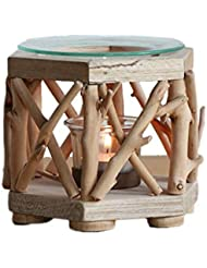 家庭用木材香ホルダーエッセンシャルオイルアロマ燭台香バーナー寝室アロマセラピー炉香バーナーホルダー (Color : B)