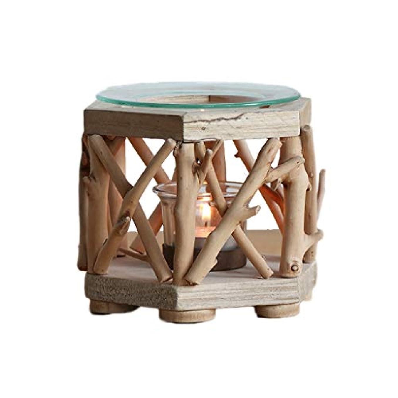 イブくびれた中古家庭用木材香ホルダーエッセンシャルオイルアロマ燭台香バーナー寝室アロマセラピー炉香バーナーホルダー (Color : B)