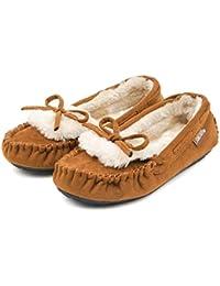 (サムシング エドウィン) SOMETHING EDWIN 子供靴 軽量 おしゃれ モカシン キッズ 女の子 ファー 防寒