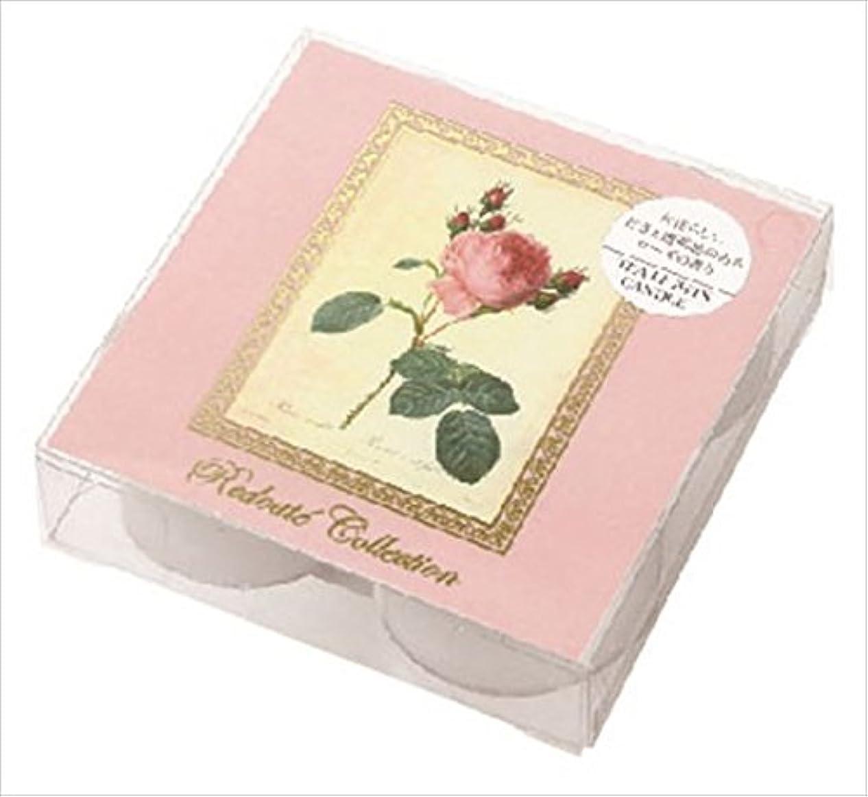 愛する求める繊毛カメヤマキャンドル(kameyama candle) ルドゥーテクリアカップティーライト4個入 「 スイートローズ 」