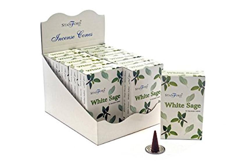 ワイン習慣クレーターStamfordホワイトセージ香コーン、12 xパック15