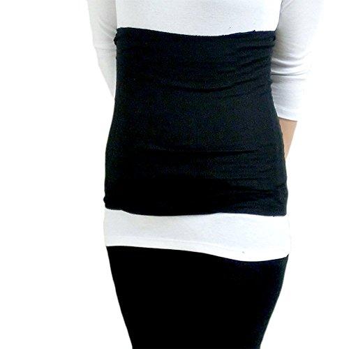 上質シルク100% 腹巻 35cm レギュラー丈 日本製 光沢がある絹紡糸を100%使用。 温活 ・ 妊活 応援アイテム (ブラック)