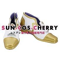 【サイズ選択可】コスプレ靴 ブーツ K-2451 夢王国と眠れる100人の王子様 月影の国 クレアブール 男性27CM