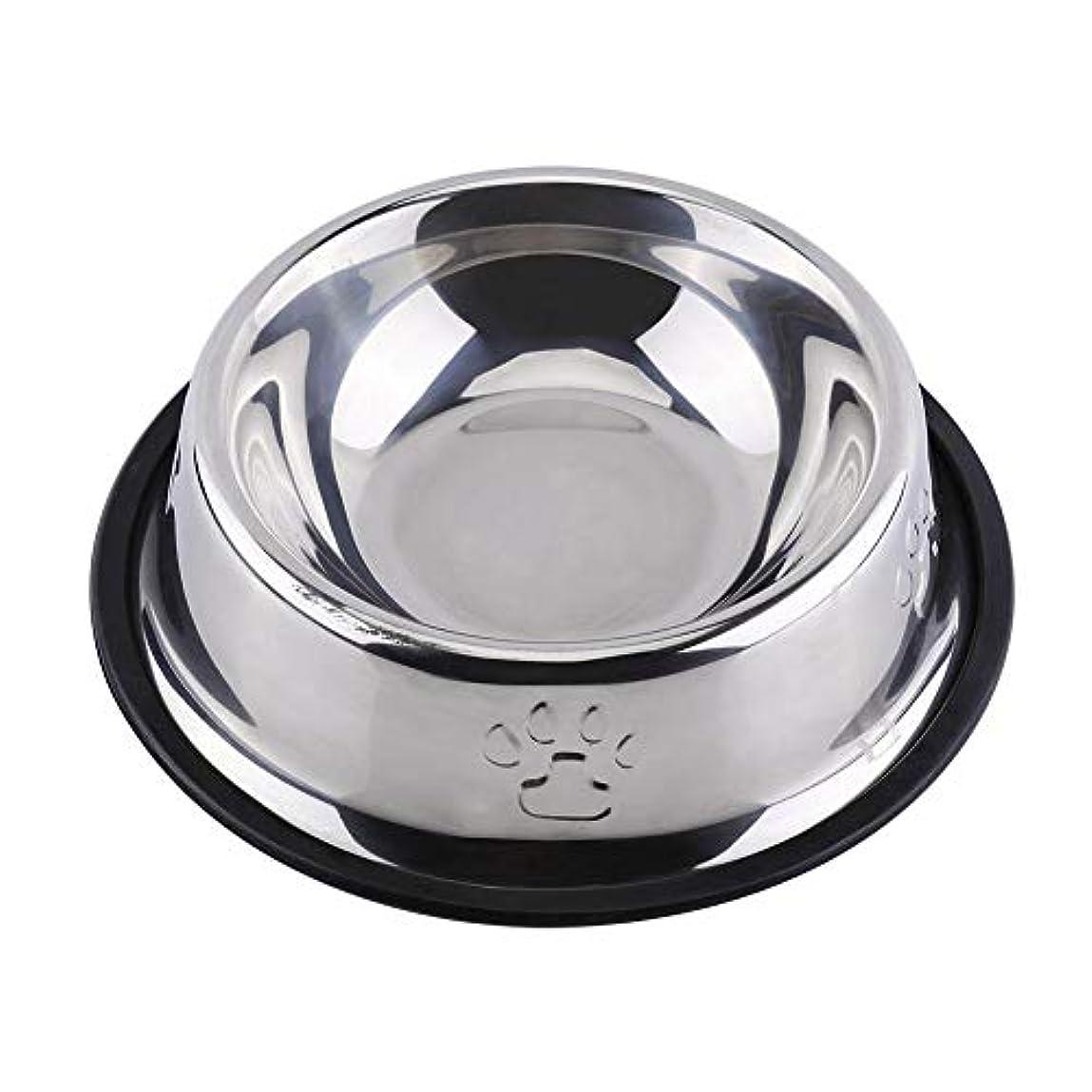 航空便論争の的恨みTOPINCN ステンレス鋼 ペットボウル アンチスリップ犬猫子犬 フードホルダー ペット給水器 餌やり 5サイズ(18cm)