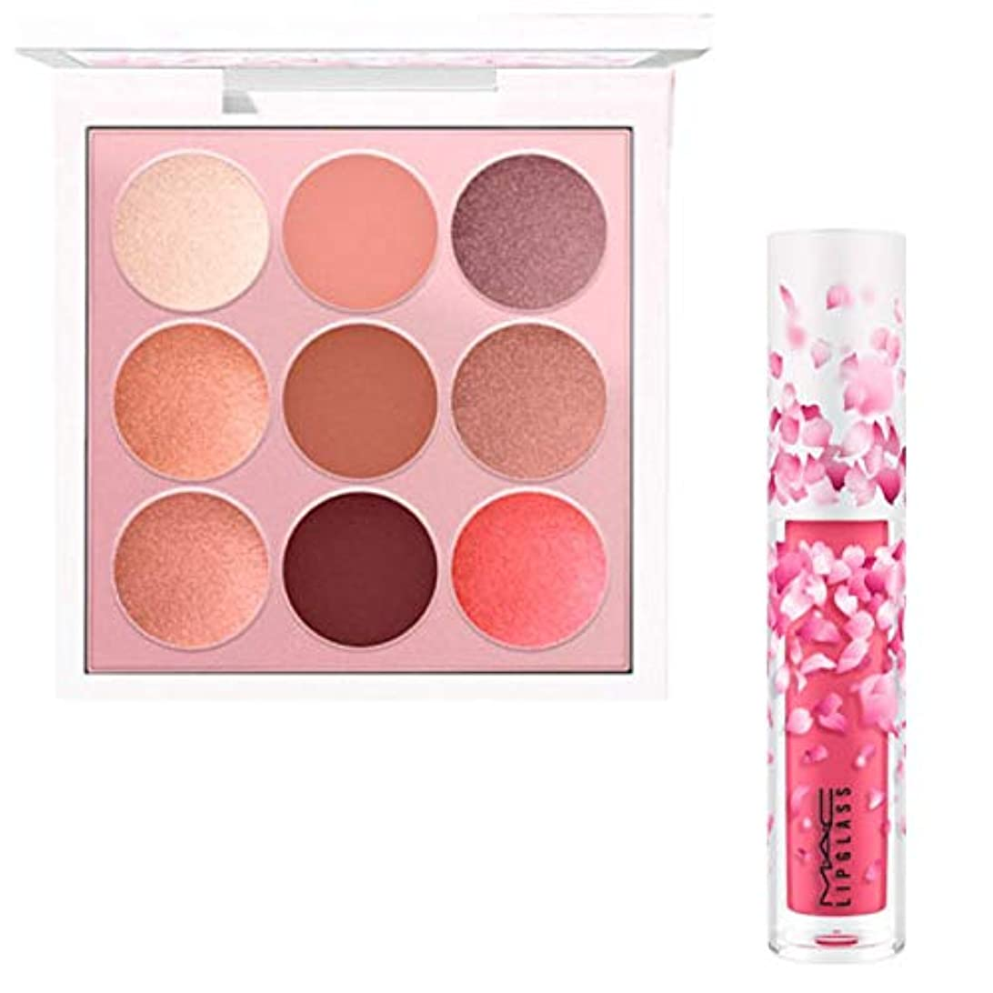 願望変数リールM.A.C 限定版, Boom, Boom, Bloom EyeShadow & Lipglass (Kabuki Doll Palette & Cherry Mochi) [海外直送品] [並行輸入品]