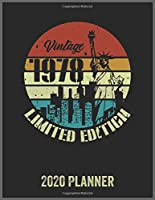 Vintage 1978 Limited Edition 2020 Planner: Daily Weekly Planner with Monthly quick-view/over view with 2020 Planner