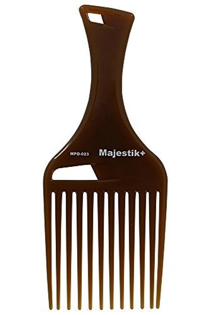 影のあるであるフリッパーHair Comb- Afro Hair Comb Infused With Argan Oil Wide Tooth, Brown, Rake Comb, With Bespoke PVC Product Pouch...