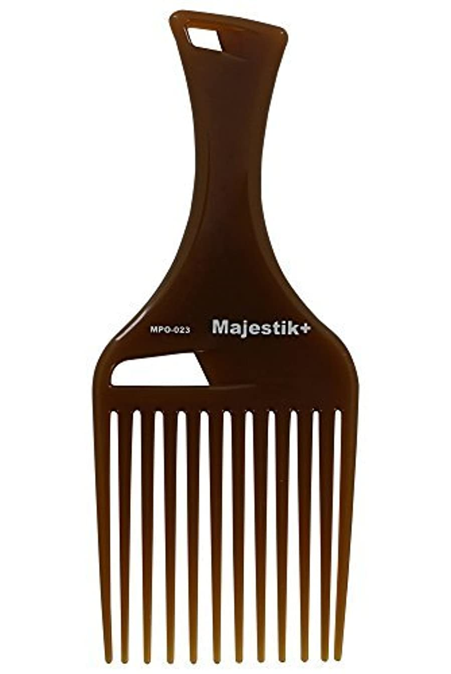 魅惑的なによると耐えられるHair Comb- Afro Hair Comb Infused With Argan Oil Wide Tooth, Brown, Rake Comb, With Bespoke PVC Product Pouch...