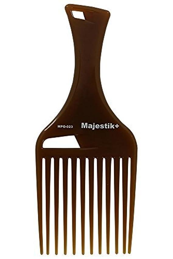 水曜日原始的な吸収剤Hair Comb- Afro Hair Comb Infused With Argan Oil Wide Tooth, Brown, Rake Comb, With Bespoke PVC Product Pouch...