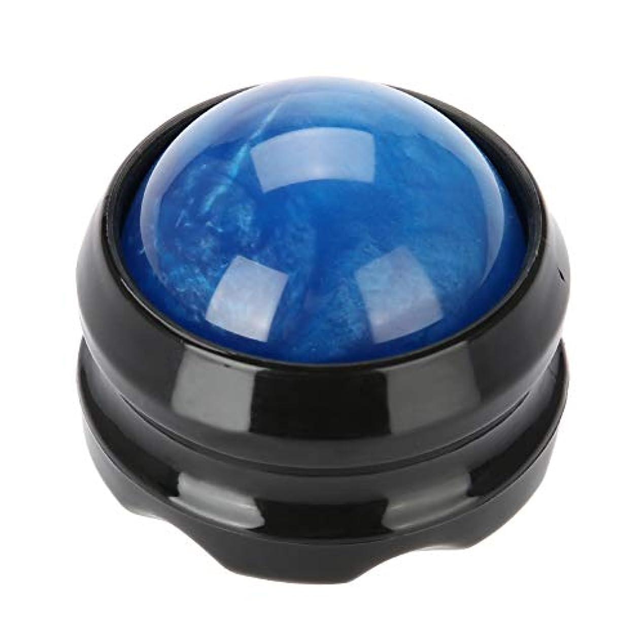 胃キャプテンマーキングマッサージローラーボールマッサージャーボディセラピーフットヒップリラクサーストレス (青)