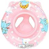C-Princess 幼児 キッズ 子供用 浮き輪 ベビーボート 足入れ ハンドル付き 象の漫画 かわいい アウトドア 夏のプール ビーチ で大活躍 (Bピンク)