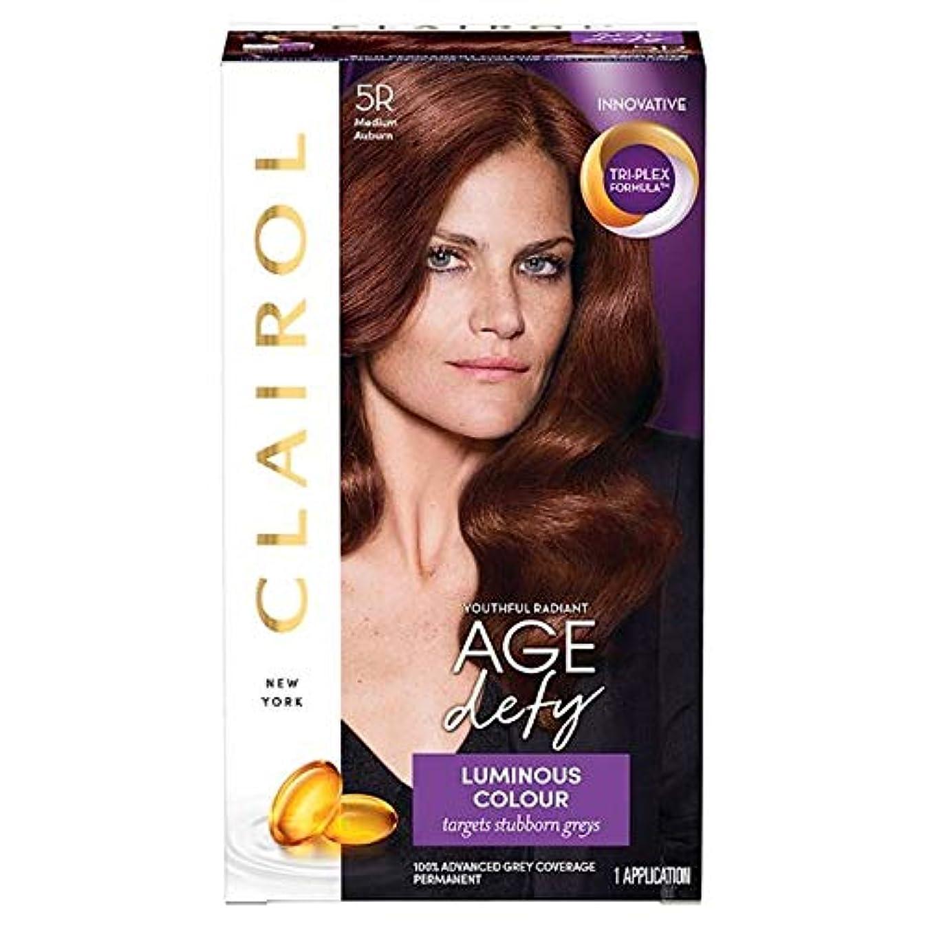 むしろ下に向けますタックル[Nice'n Easy] クレイロール素敵な「N簡単年齢は染毛剤5Rメディア赤褐色を挑みます - Clairol Nice 'N Easy Age Defying Medium Auburn 5R Hair Dye [...