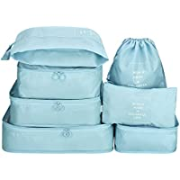 Packing Cubes - Efuly 7pcs Sets Travel Storage Bag Organizer Luggage Compression Pouches