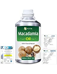 Macadamia (Macadamia Integrifolia) Natural Pure Undiluted Uncut Carrier Oil 5000ml/169 fl.oz.