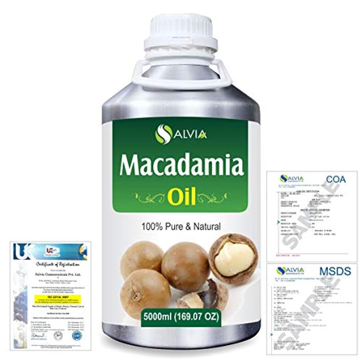 不安定な電話に出るリゾートMacadamia (Macadamia Integrifolia) Natural Pure Undiluted Uncut Carrier Oil 5000ml/169 fl.oz.