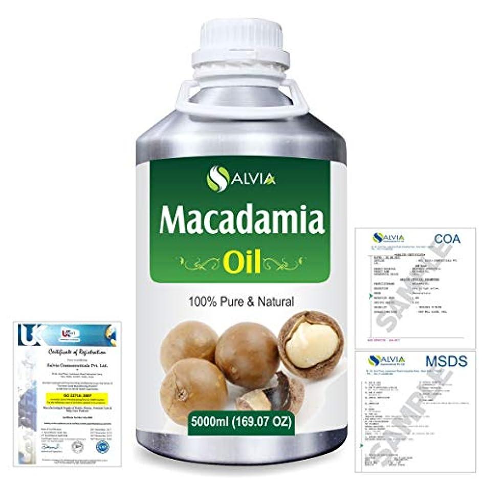 スタウト引き潮ずらすMacadamia (Macadamia Integrifolia) Natural Pure Undiluted Uncut Carrier Oil 5000ml/169 fl.oz.