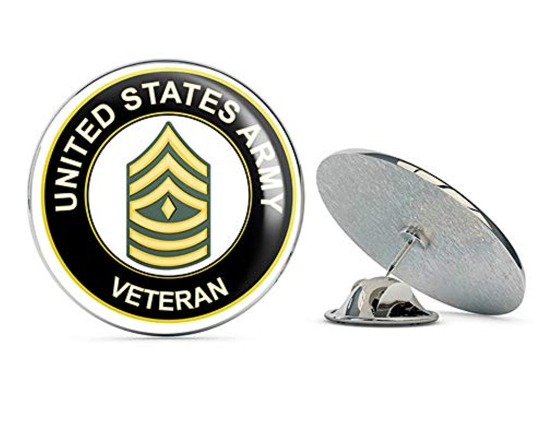 U.S. Army First Sergeant Veteran メタル 0.75インチ ラペルハット ピン タイタック ピンバック