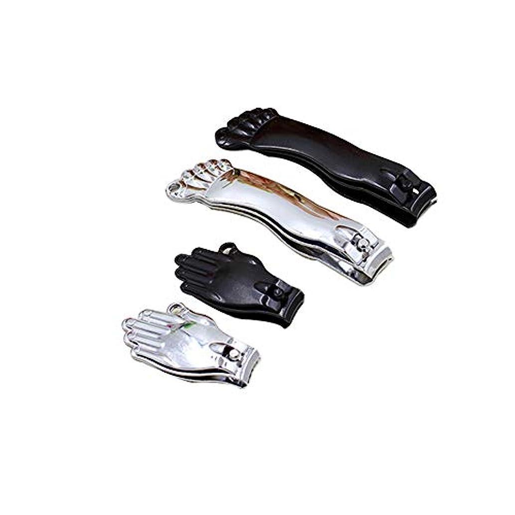 高尚な徒歩で消費者漫画の足首の爪切りセットファッション爪切りセットマニキュアキット、ブラック、2点セット