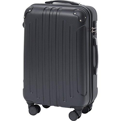 スーツケース キャリーバッグ M 軽量 8輪キャスター TSAロック エンボスブラック