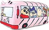 ティーズファクトリー クッション ピンク H14×W20×D34cm クレヨンしんちゃん もっちりバス型クッション KS-5529069