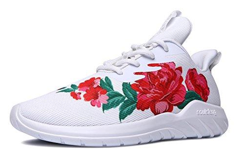 [해외]서울 펜 운동화 여성 남성 스니커즈 꽃 무늬 가볍고 통기성 패션 신발 통근 통학 신발 (big flower 디자인)/Soul fen sneaker ladies men`s sneakers floral lightweight breathable fashion shoes commuter school shoes (big flower design)