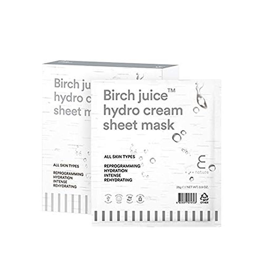 る軽食署名【ENATURE 日本公式サイト】バーチジュースハイドロクリームシートマスク 28gx10枚 韓国コスメ スキンケア
