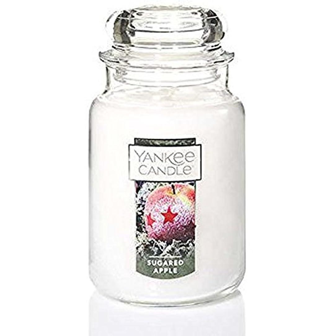 困惑一握り上にYankee Candle Sugared Apple Large Jar Candle、Festive香り