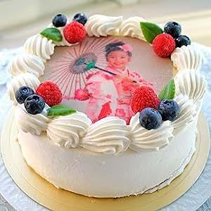 ロイヤルガストロ プリントデコレーション ケーキ 生クリーム味 5号サイズ 写真ケーキ