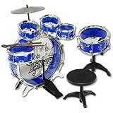 9 Piece Kids Drum Kit Set Jazz Drum Junior Drum Kit 6 Drums, Cymbal, Chair, Kick Pedal, Drumsticks