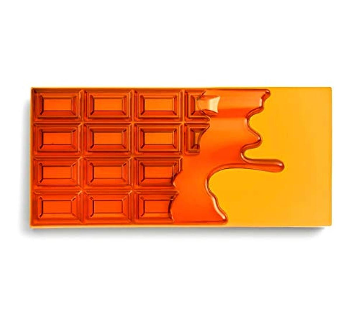 運河正規化ビーチメイクアップレボリューション アイラブメイクアップ チョコレート型18色アイシャドウパレット #Honey Chocolate ハニーチョコレートパレット アイシャドウ