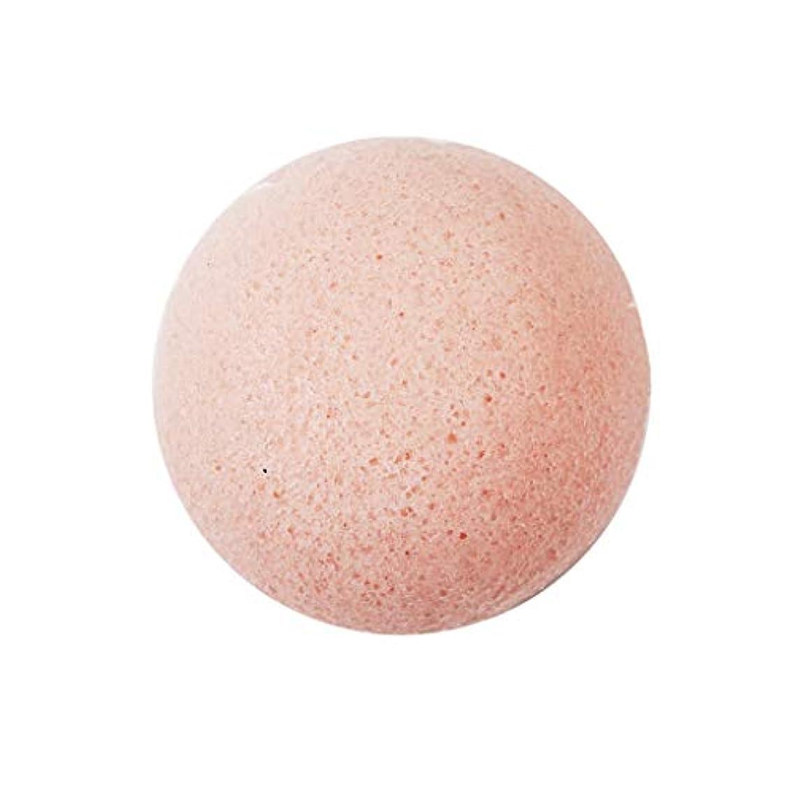 マッシュ学者情緒的D DOLITY こんにゃく フェイシャルスポンジ 洗顔用 パフ フェイススポンジ マッサージ 汚れ 油 - ピンク