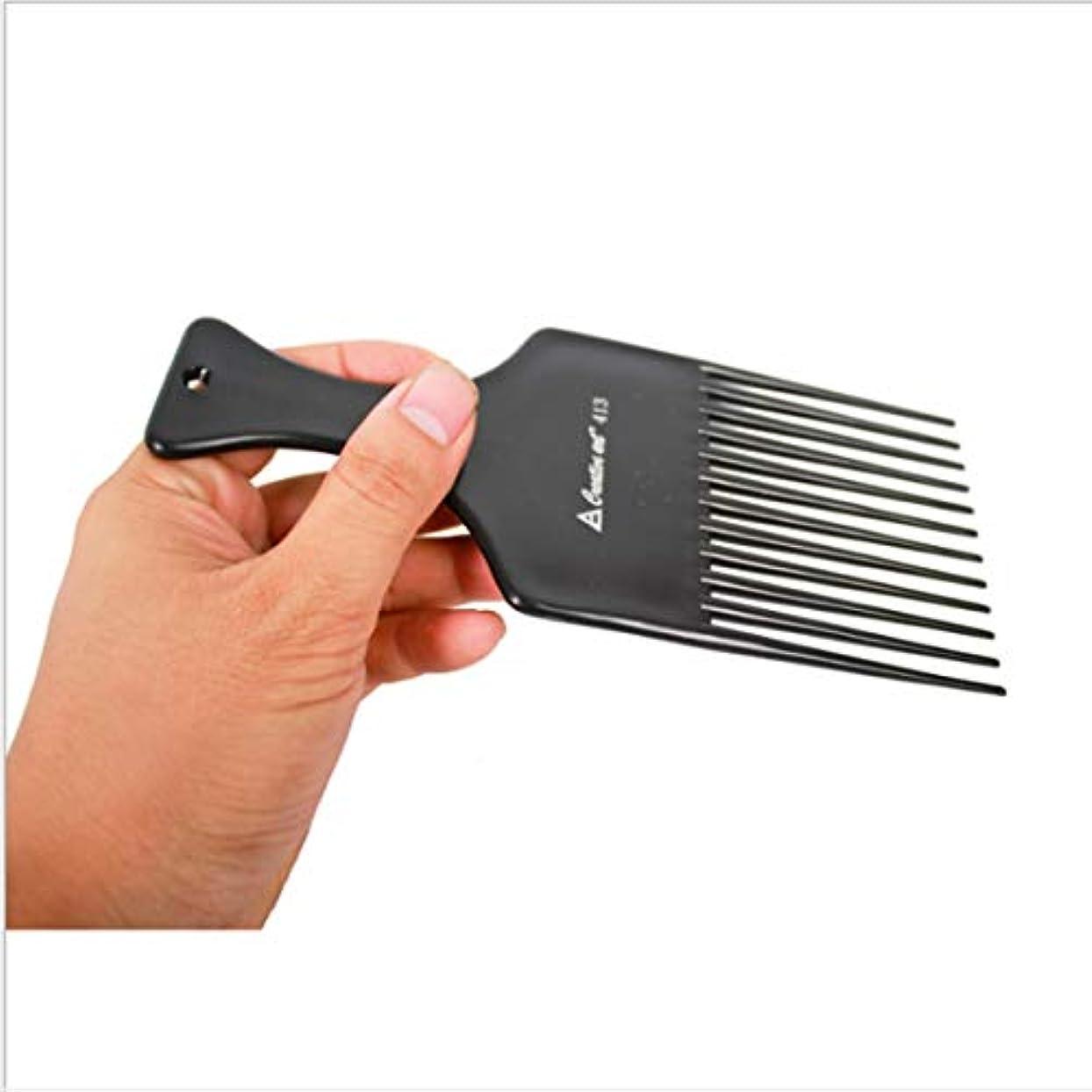 くすぐったいストロークキノコGuomao 理髪師のフォーク-7inchの長さのための滑らかな毛の調整の熊手の櫛 (色 : 黒)