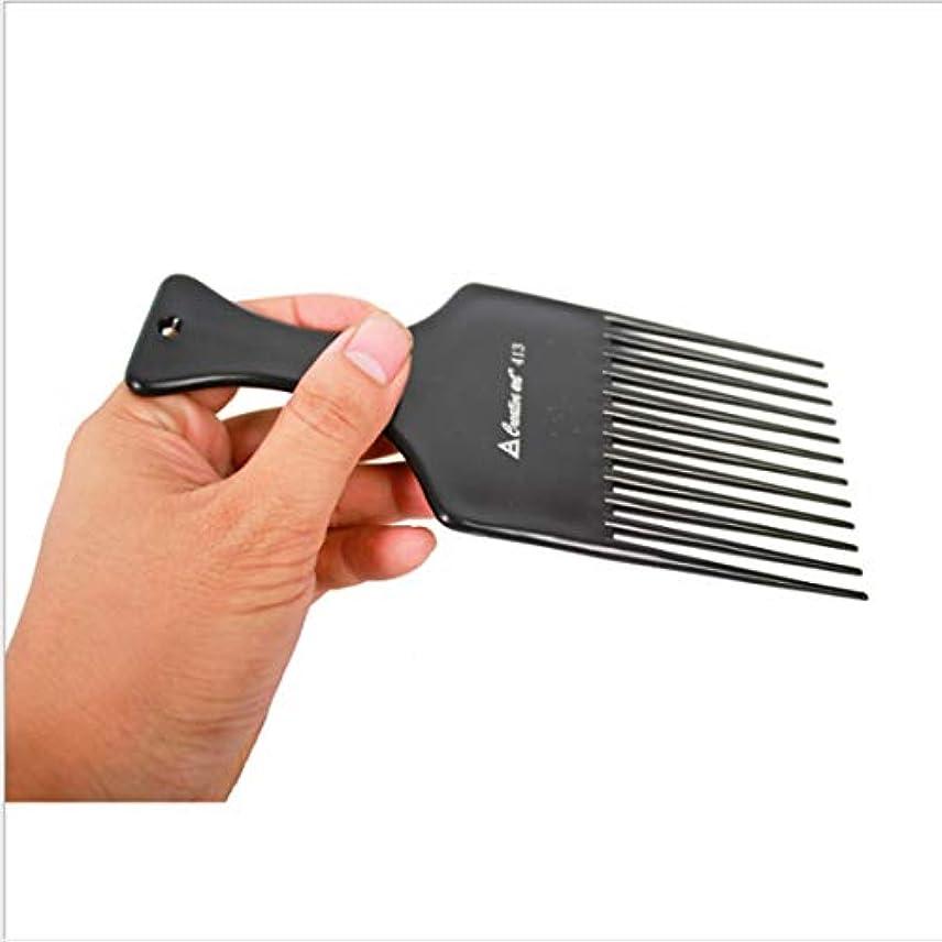 エネルギー任意サイレントGuomao 理髪師のフォーク-7inchの長さのための滑らかな毛の調整の熊手の櫛 (色 : 黒)