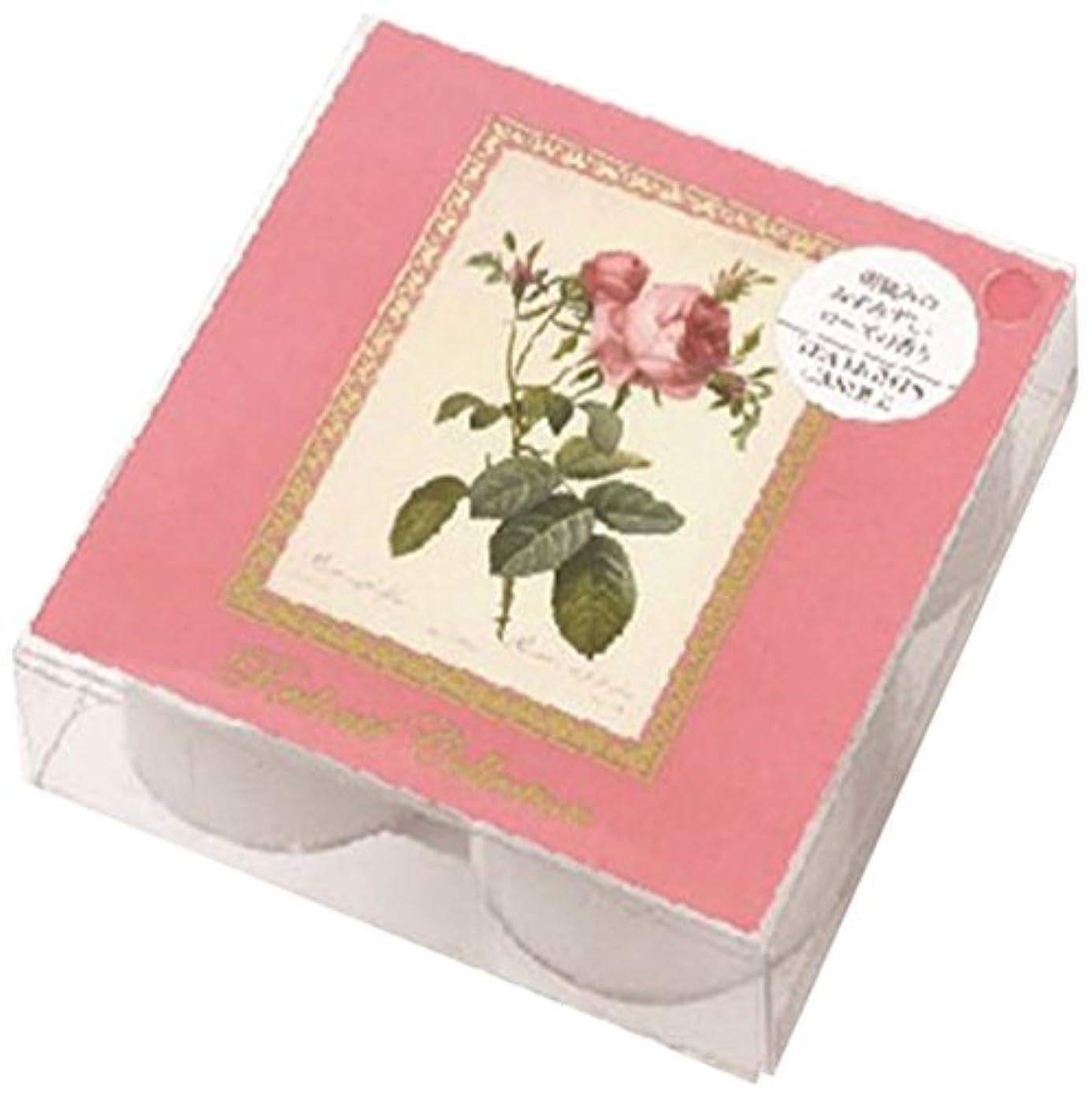 花瓶包帯レベルカメヤマキャンドルハウス ルドゥーテクリアカップティーライト4個入 ピュアローズ