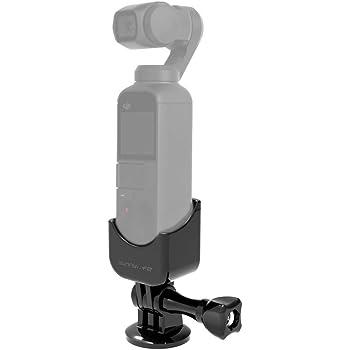【Taisioner】DJI OSMO POCKET専用マウントアダプター 1/4アダプター 180 度回転 多能アダプター 自撮り棒対応 バックパックマウントクリップ対応 マウント カメラマウント カメラホルダー コンパクト ポケット アクセサリー 拡張モジュール カメラ アクションカメラ