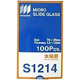 松浪硝子工業 スライドグラス 水縁磨 t1.3 100枚入 S1214