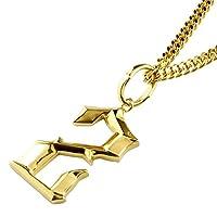 [アトラス] Atrus 数字 ナンバー 2 ネックレス イエローゴールドk18 チェーン(SV925) 18金 ペンダント 宝石なし 地金