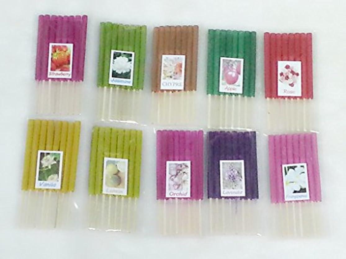すでにスプーン抑制するセット13 Mixアロマ10 Scents 80 Sticks Mini Incense Sticks Thai Spaアロマセラピーホームのハーブ&香料、長さ3インチ