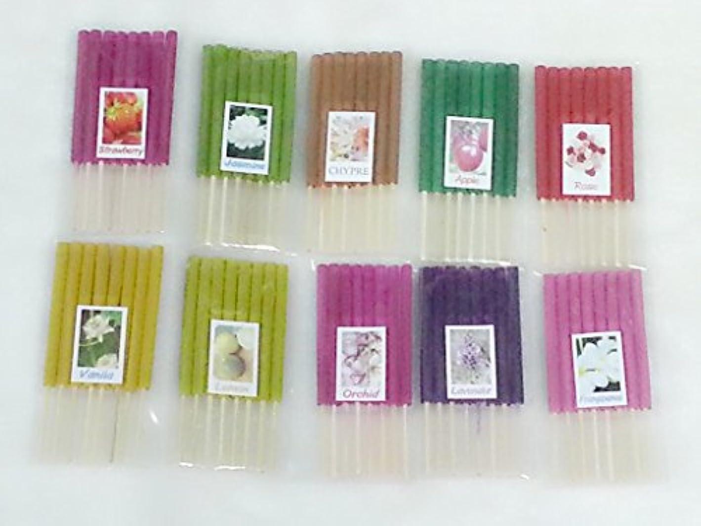 それる社交的取るセット13 Mixアロマ10 Scents 80 Sticks Mini Incense Sticks Thai Spaアロマセラピーホームのハーブ&香料、長さ3インチ