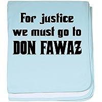 CafePress – Don Fawaz – スーパーソフトベビー毛布、新生児おくるみ ブルー 065968632425CD2