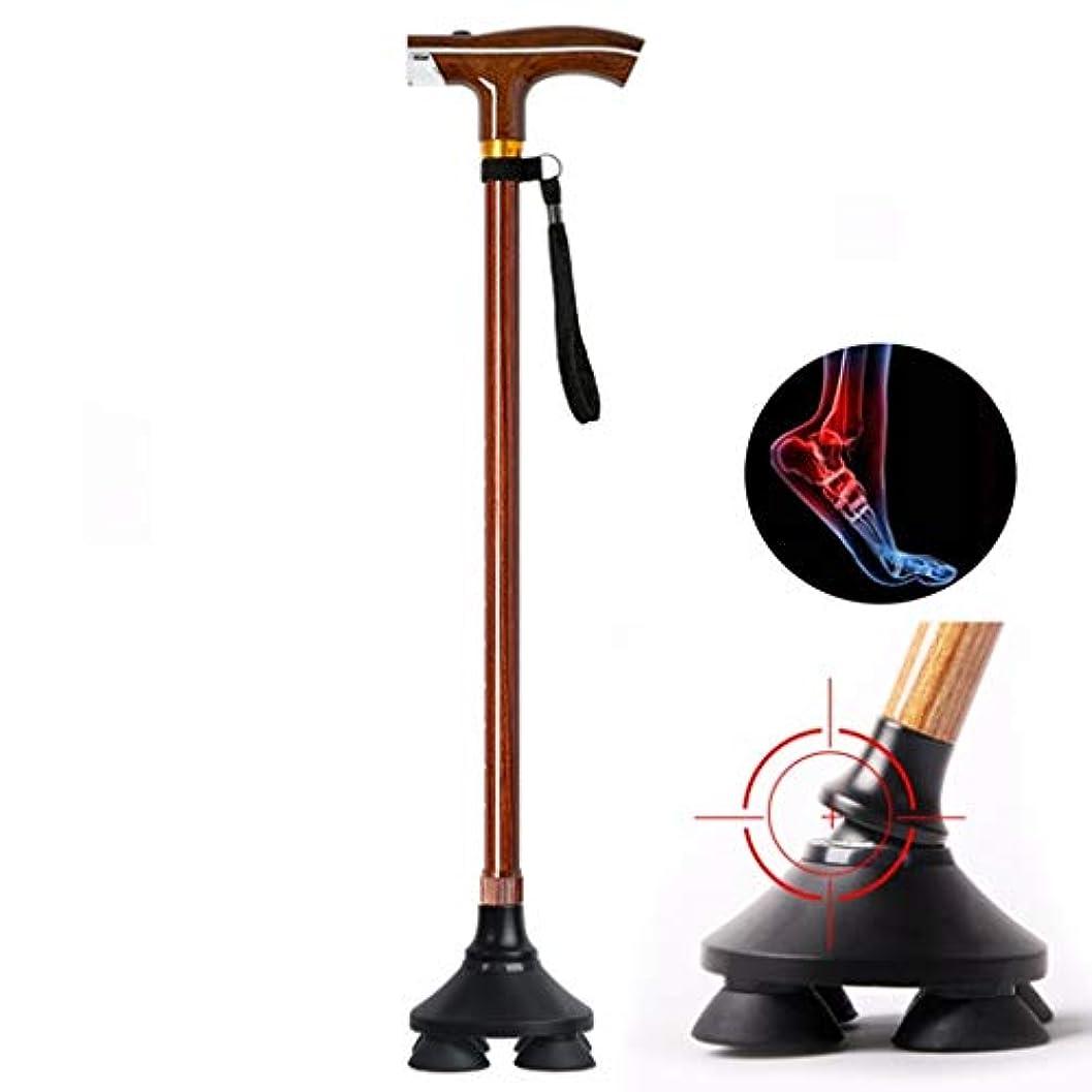 テクニカルクライストチャーチ家庭RANRANJJ 人または女性のためのLEDライト調節可能な軽量の杖を持つ杖を歩く (Color : A)
