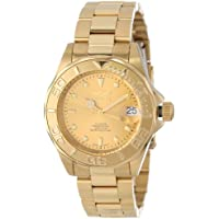 """Invicta Men's 13929""""Pro-Diver"""" 18k Gold Ion-Plated Automatic Watch"""