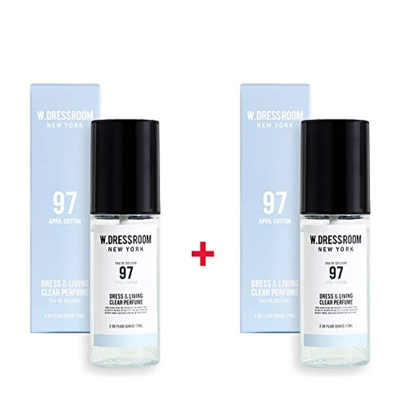 ジャーナリスト懇願するタイヤW.DRESSROOM Dress & Living Clear Perfume 70ml (No 97 April Cotton)+(No 97 April Cotton)