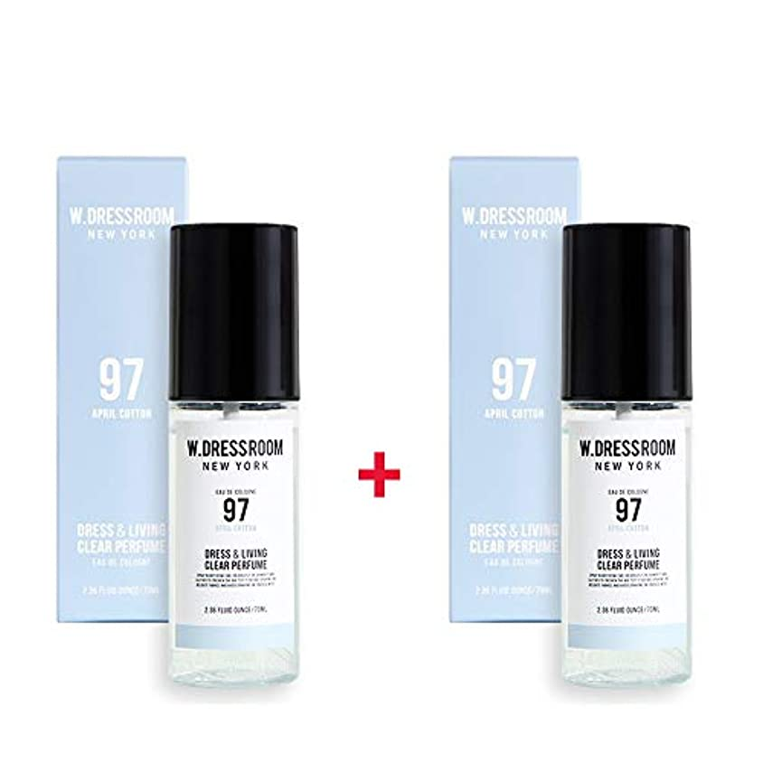 甘美なフェローシップジムW.DRESSROOM Dress & Living Clear Perfume 70ml (No 97 April Cotton)+(No 97 April Cotton)