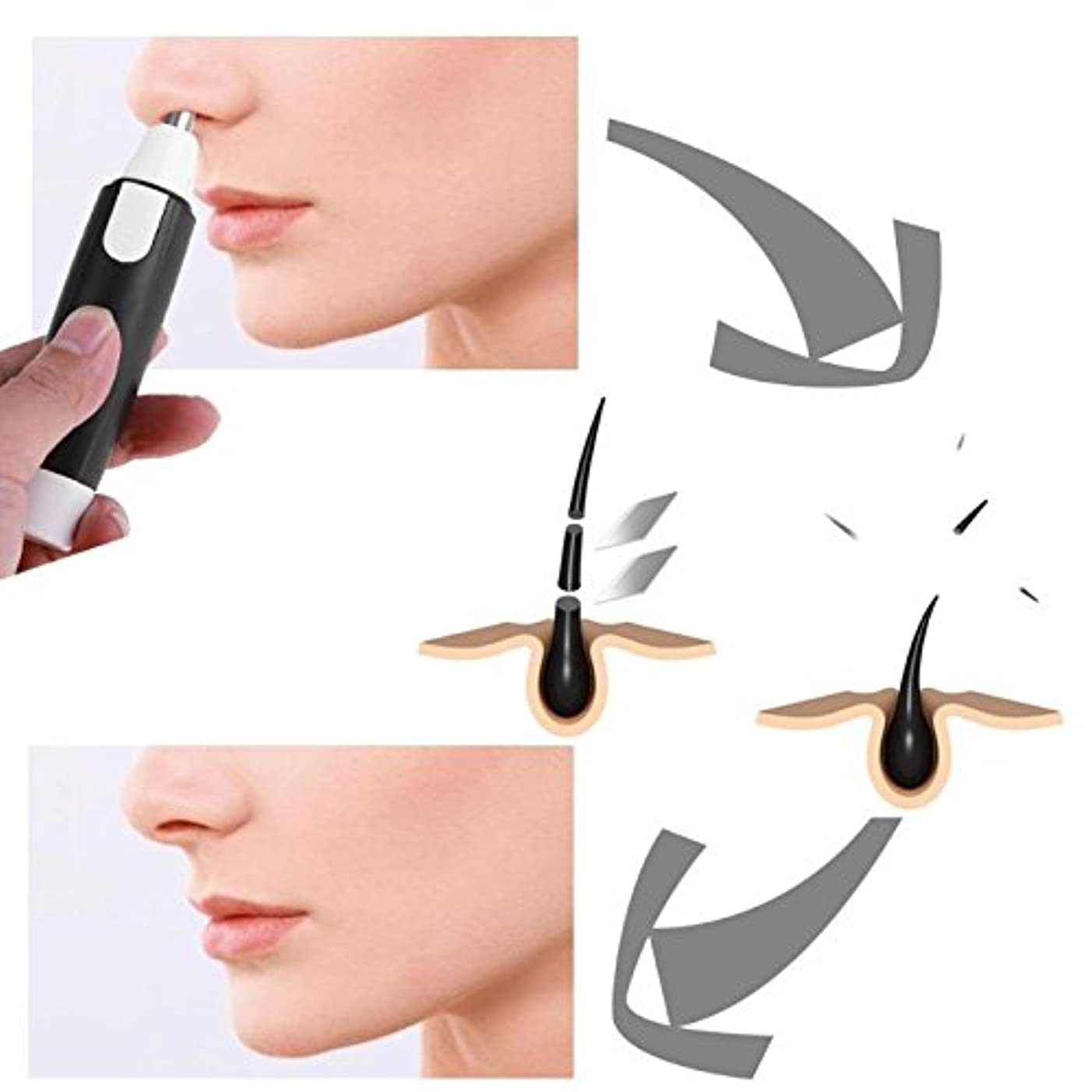 分割趣味プラットフォームElectric Shaver Men Nose Face Care Hair Removal Trimmer Cleaner Tool Nasal Wool Implement Nose Hair Cut For Men...