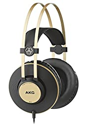 AKG プロフェッショナルシリーズヘッドホン 40mm径 ダイナミック ドライバー採用 オーバーイヤー ヘッドホン … (K92)