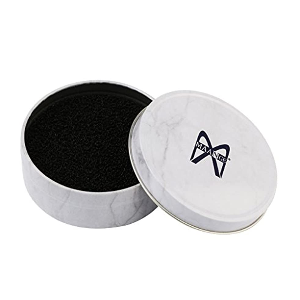 活性化するレビュアーみすぼらしいFenteer メイクブラシクリーナーボックス メイクブラシクリーニング  スポンジ ボックス メタルボックス+スポンジ 3色選べる - 白