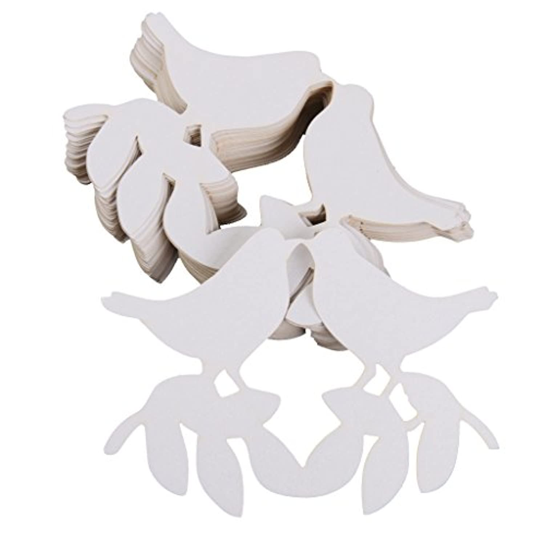 【ノーブランド品】ワイン グラス カード 結婚式用 コップ ウェディングパーティー 鳥パターン 50ペア