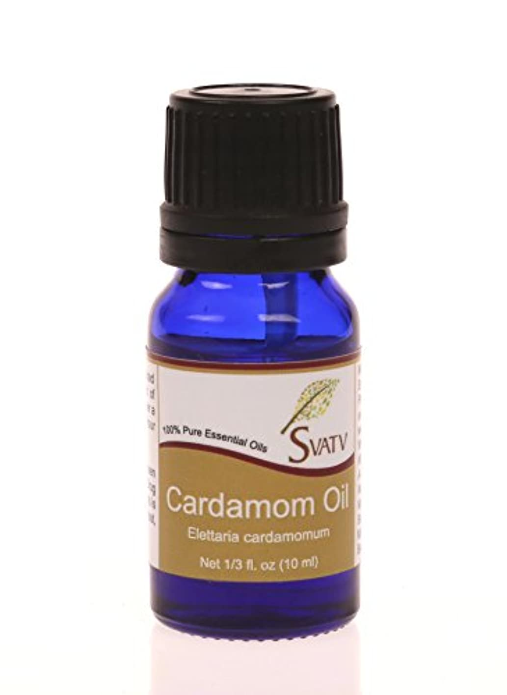 粘液浸食ベアリングSVATVカルダモン(Elettaria cardamomum)エッセンシャルオイル10mL(1/3オンス)100%純粋で無希釈、治療グレード