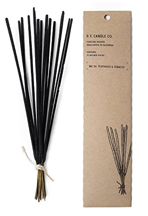 降ろす直接そのようなp.f. Candle Co。 – No。04 : Teakwood &タバコIncense 2-Pack
